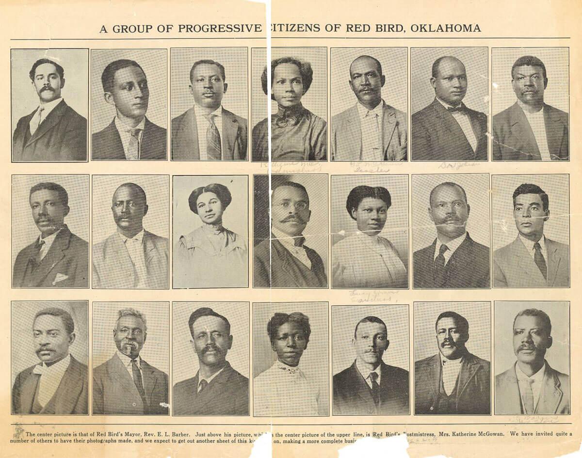 Photos of citizens of Redbird Oklahoma